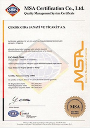 MSA Certification Co., Ltd Quality Management System
